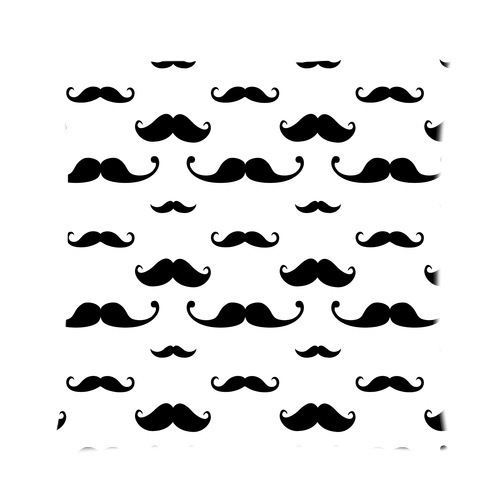 Design Fashionable Vector Hipster Mustache Seamless Pattern Zippered pillow Case 16 IN x 16 IN (one side)