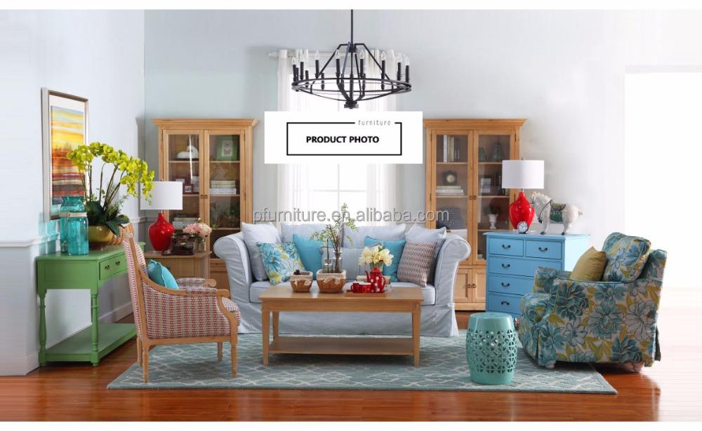 Amerikanischen Stil Wohnzimmer Stoff Sofa Bunte Sofa PFS1608060