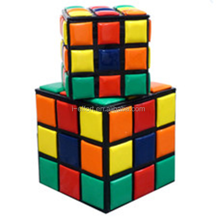 Kids magic cube folding storage stool with drawer Chair