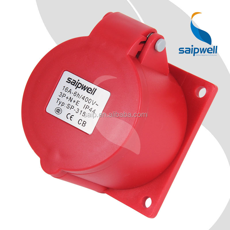 Saip/Saipwell CEE/IEC standard IP44 5 pin 16a electric power switched socket outlet (SP-315)
