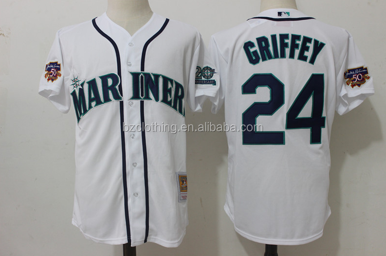 Men's Seattle Mariners Ken Griffey Jr. White Jersey