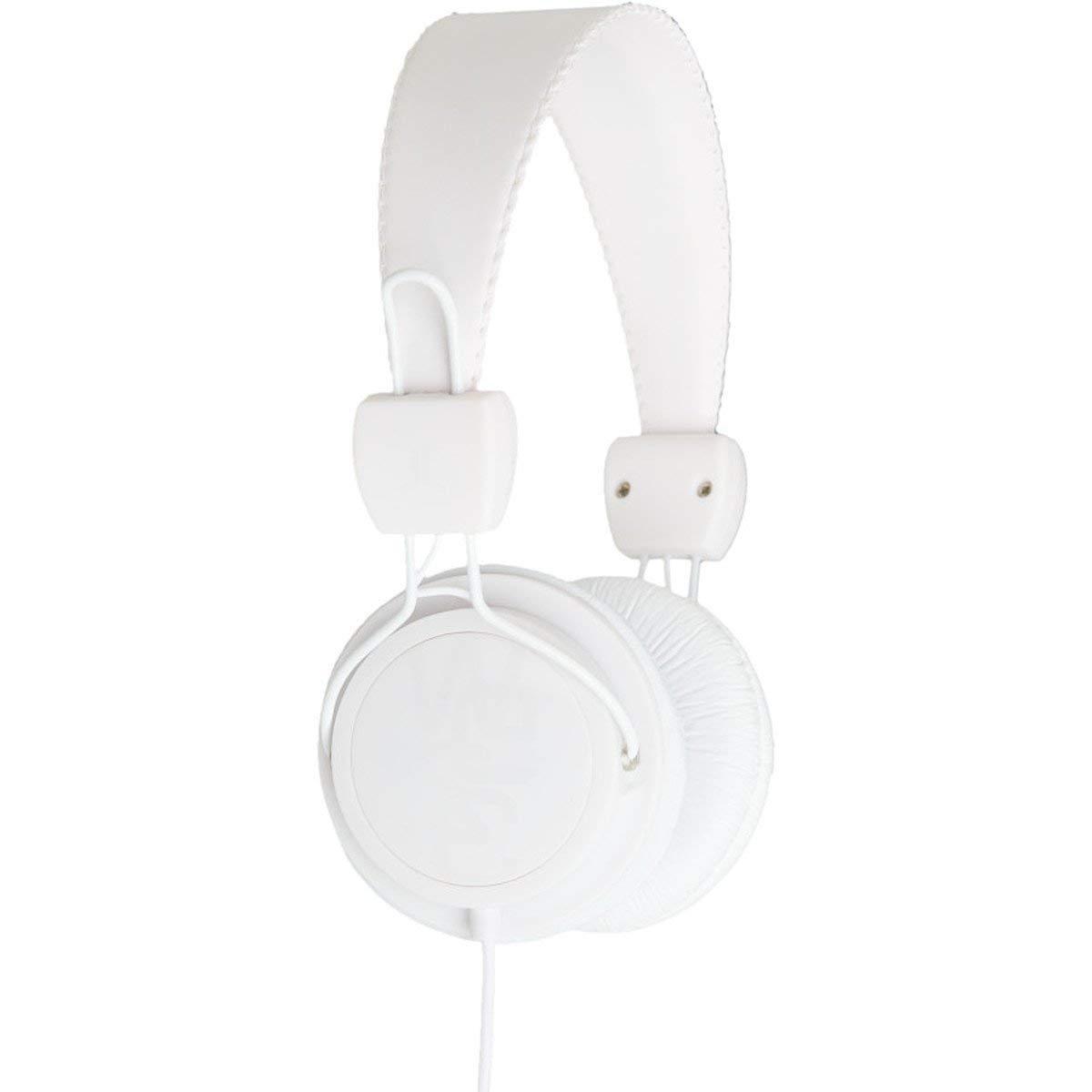 WESC 0007001001 Matte Conga Headphones with Volume Control, White