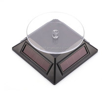 eco-fashion solar rotating display stand for watch&phone&jewelry