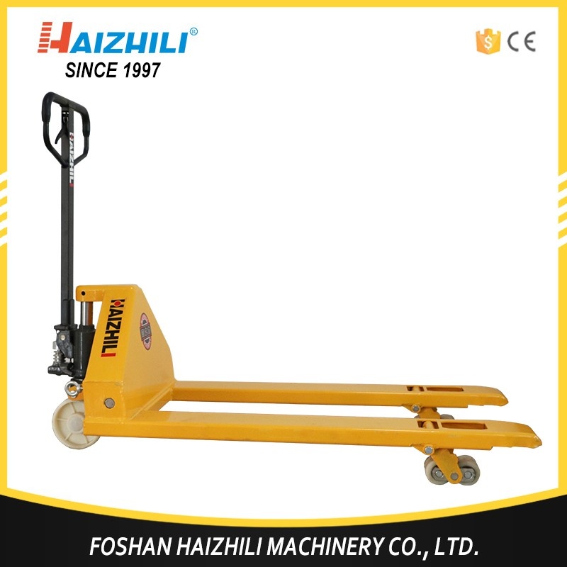 5 ton CE certificaion hand pallet jack with nylon wheels and hydraulic pump