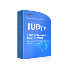 Arabic IPTV IUDTV IPTV Subscription US Channels 12 Months Code for WIFI Receiver World IPTV Box