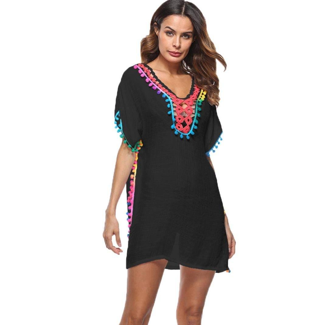 bffb80ebeeff40 Get Quotations · Hot Sale!Swimsuit Cover-Up,Todaies Women Tassel Loose  Large Size Beach Swimsuit