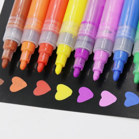 High quality import ink 16 colors Acrylic permanent marker paint pens for DIY painting