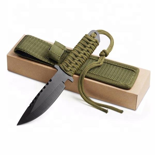 סכיני צבאי הישרדות קמפינג שירות חיצוני טקטי ציד שוויצרי פלדה קרה סכין קבוע להב סיטונאי לוגו מותאם אישית