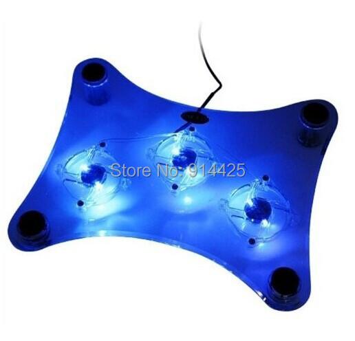 Usb ноутбук кулер тетрадь охлаждающая подставка подставка с 3 вентиляторы и синей подсветкой