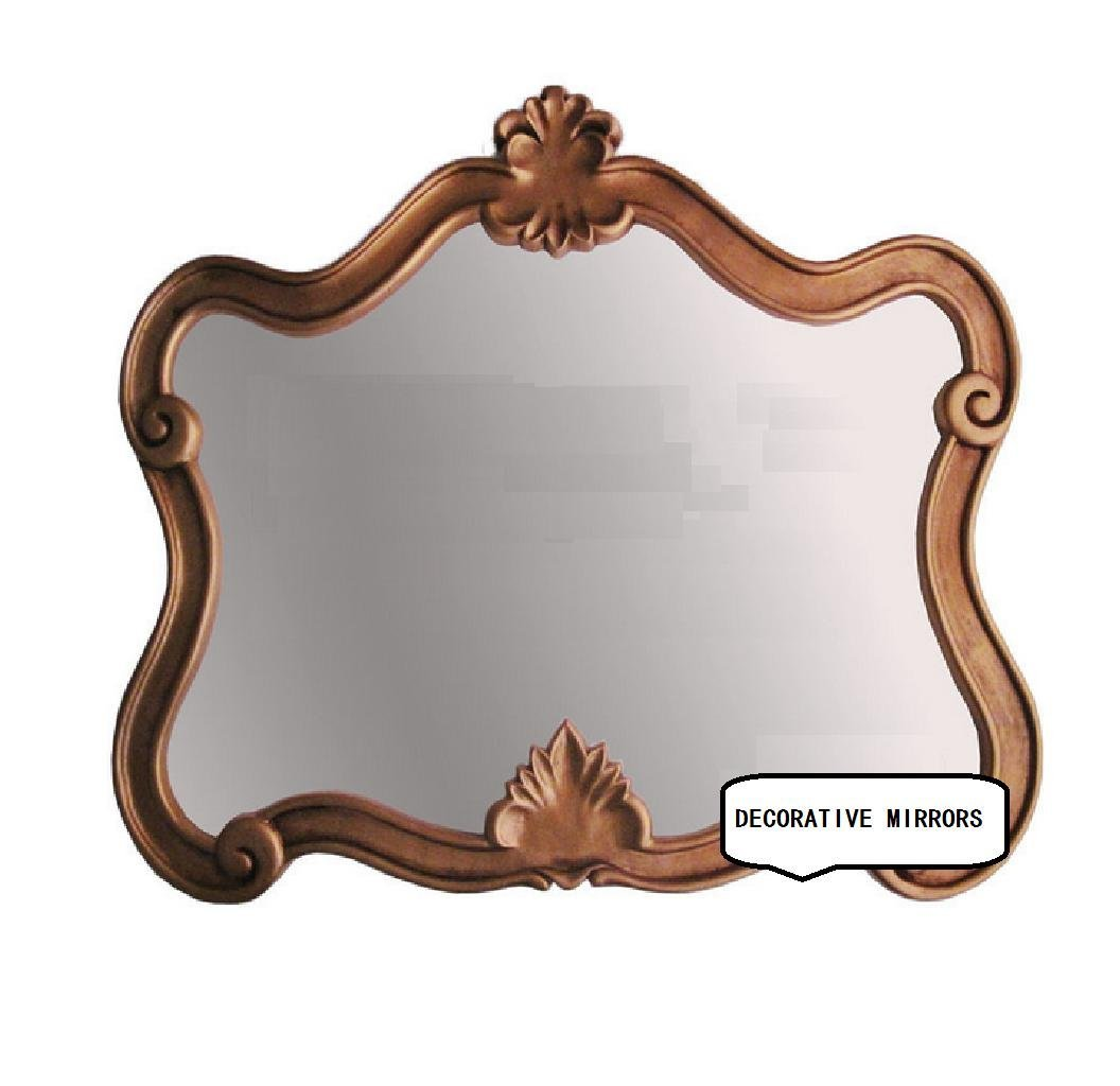 Shaped Decorative Mirror European Bathroom Mirror American Wall Mirror Bathroom Mirror Manual Process, Diameter 64 53cm / Lens Size 56 39?OY-816?