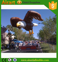 Outdoor decoration fly giant inflatable eagle, inflatable eagle flying high
