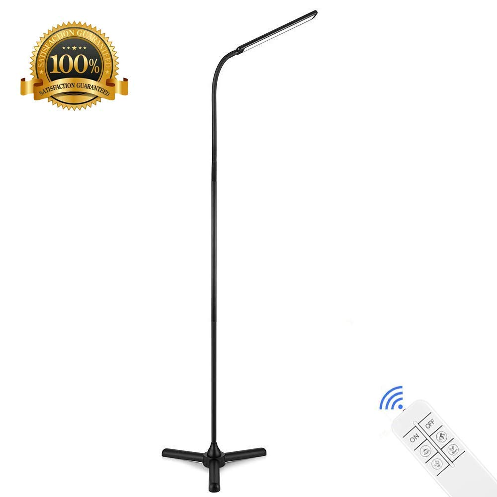 Get Quotations Efgs Led Floor Lamp 12w Reading Standing Flexible Gooseneck Dimmable Touch