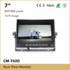 HD rear view car DVR monitor with 7 tft lcd with waterproof camera