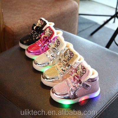 2017 new arrivals casual shoe LED light girl shoe wholesale china shoe factory