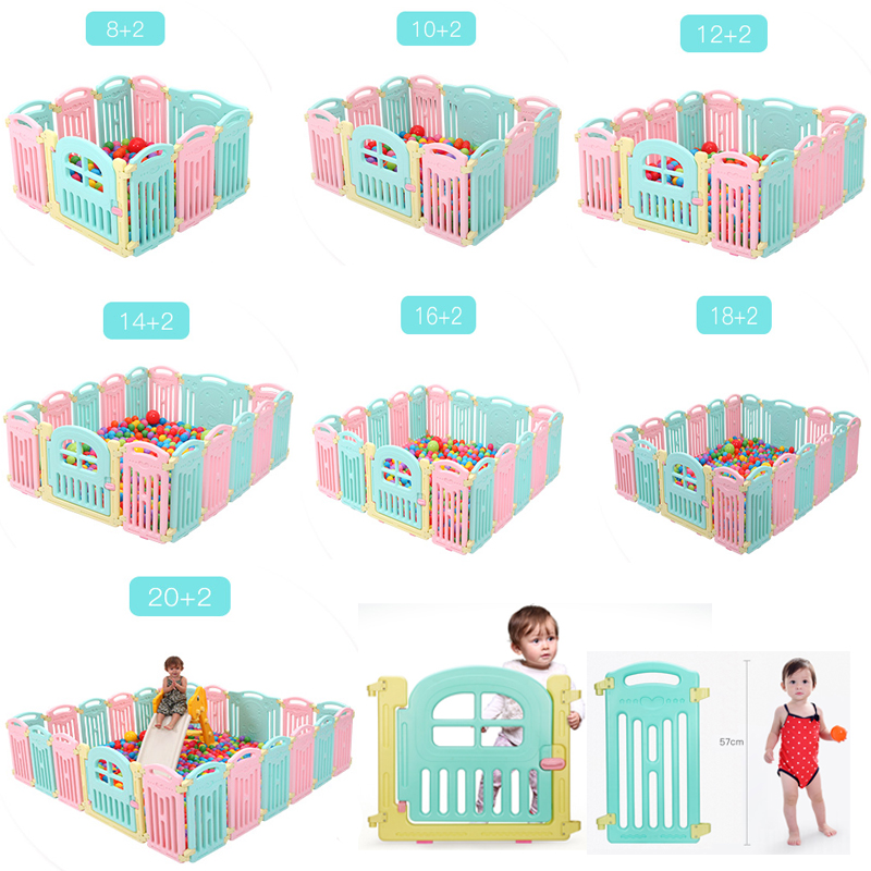 CE EN71 0-6 years infant baby kids children indoor playground amusement park play area equipment game furniture playpen fence