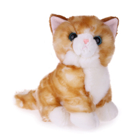 Wholesale High Quality Fur Lifelike Cat Plush Stuffed Toy