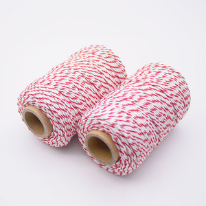 Cotton red and white diy bakers twine for Arts Crafts and Gift Wrapping