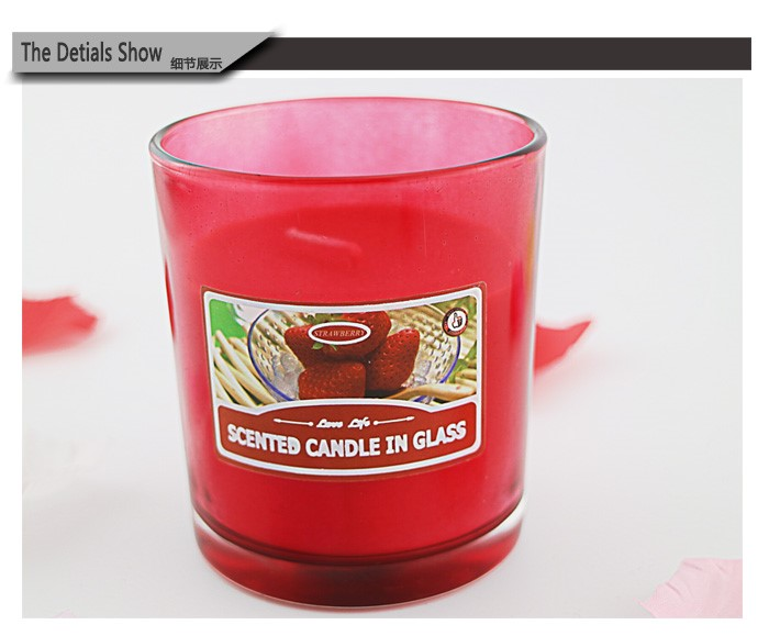 wholesale home Decorative Scented Candle In Glass
