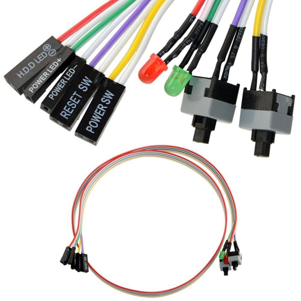 Cheap How To Wire A Fan Light Switch Find Zing Ear Ze 208s Wiring Diagram Color Code Get Quotations 4in1 Pc Power Reset Hdd Led Cable Kit Assembly For Computer