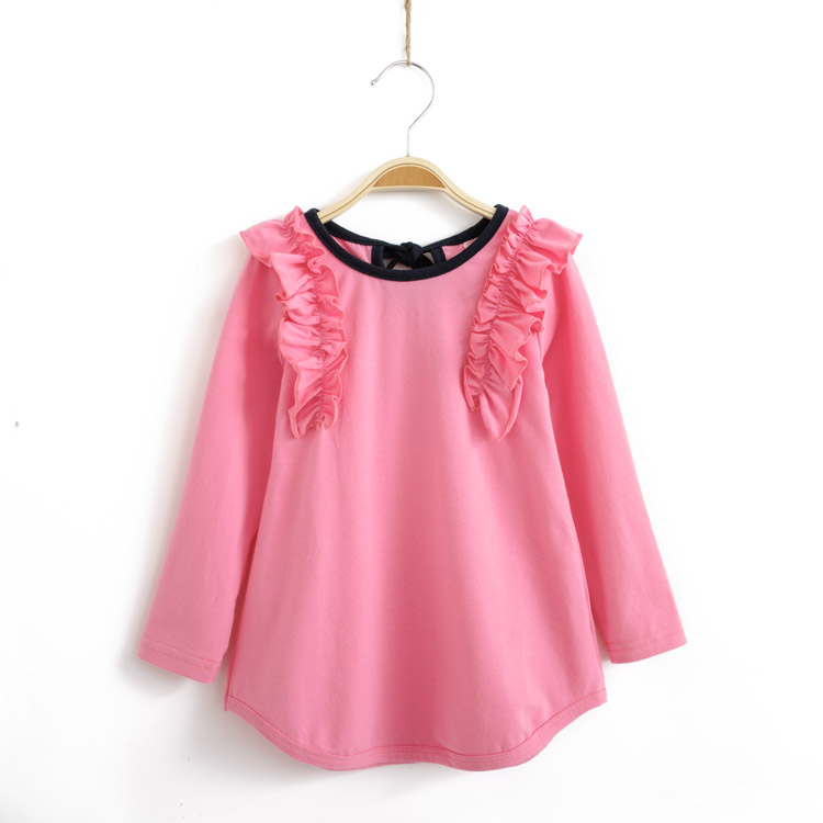 spring children s clothing girls long t shirt child long design tee shirt sleeve length shirt