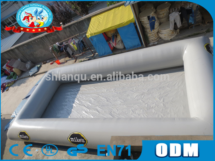 Big Outdoor Grey Inflatable Spa Pool PVC Inflatable Adults Swimming Pool