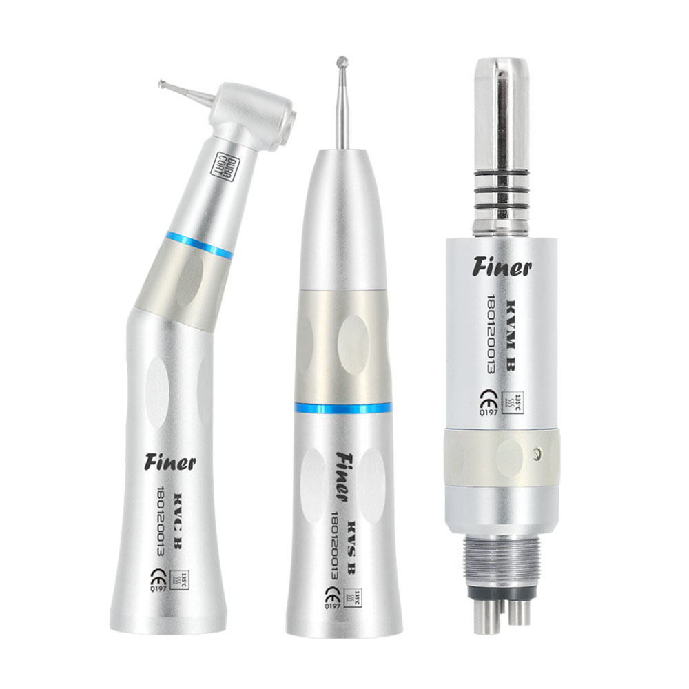 Good quality air motor contra straight angle dental inner spray low speed handpiece set
