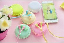 New Hot Macarons design in ear earphones Headphones Headset For All Phones Cute headphone for MP3