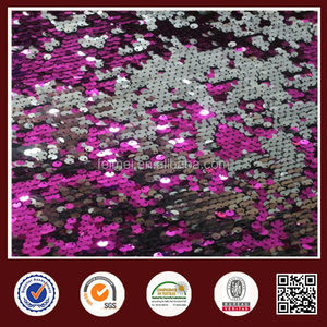 100%Poly Sequin Embroidery Jersey Sequin Knit Fabric