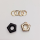 Brass Rectangle Hexagon Metal Eyelet Rivets Grommets Washer