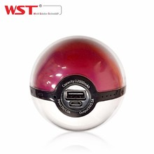 China factory wholesale PC /ABS pokemon go pokeball power bank