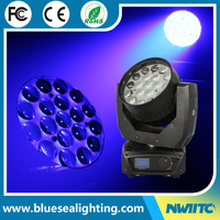 CE RoSH rgbw zoom 19x15w 4in1 led moving head wash light