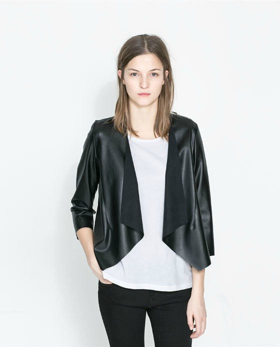 2015 New Fashion Autumn Brand Soft Pu Black Motorcycle Coat Long Sleeve Top Suede Faux Leather Jacket Black Women