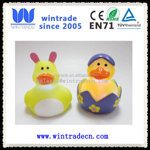 easter holiday toy flashing light up easter egg duck