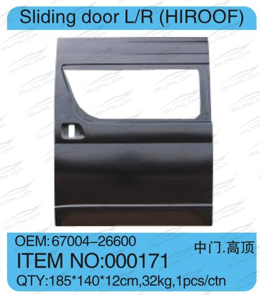 for hiace AUTO PARTS SPARE PARTS #000171 SLIDING DOOR (HIROOF) FOR for hiace 2005-2009 KDH 200 COMMUTER VAN