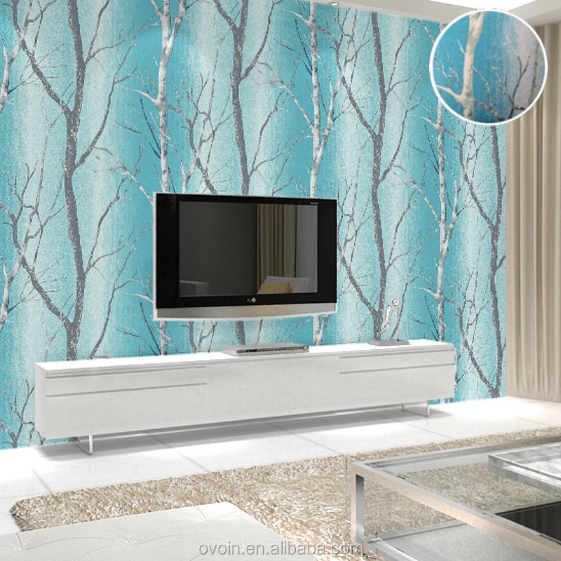 moderne en relief 3d effet noir blanc bouleau arbre murale. Black Bedroom Furniture Sets. Home Design Ideas