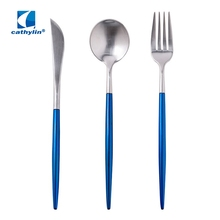 High quality stainless steel unique camping silverware cutlery set