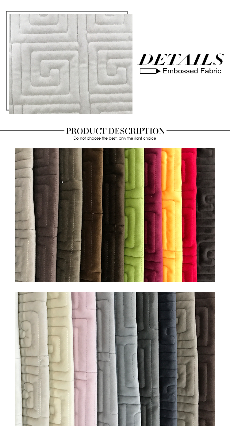 China supplying 100% polyester embroidery fabric for sofa furniture