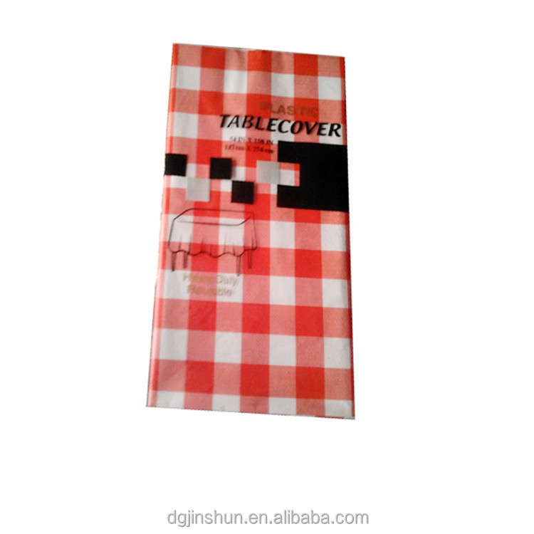 red checkered disposable table covers printed peva tablecloth with cheap price