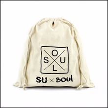 Customized High Quality Drawstring Small Gift Canvas Pouch With Personal Logo