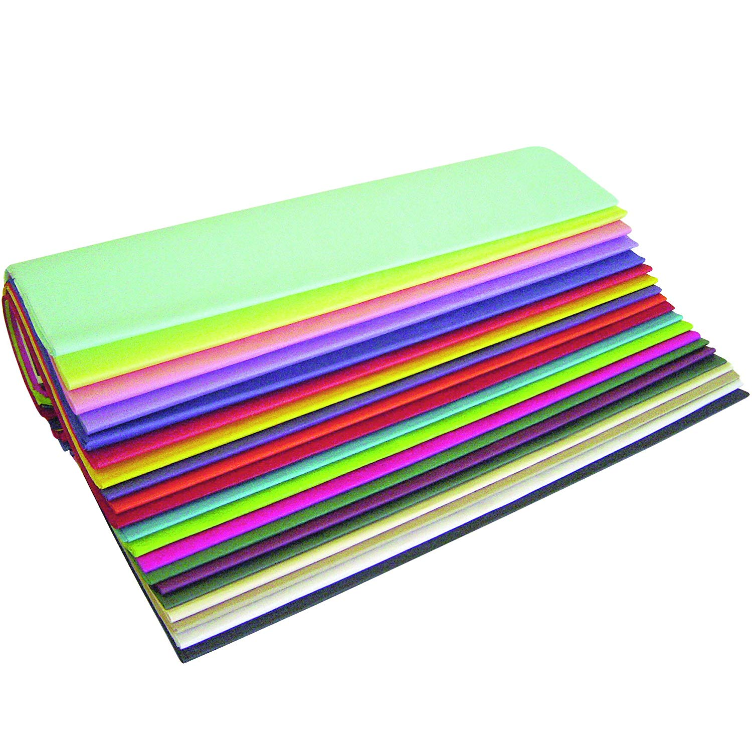 """Ship Now Supply SNTPOPPACK Tissue Paper Assortment Pack, 20"""" x 30"""", Popular, 20"""" width, 30"""" Length, Assorted (Pack of 480)"""