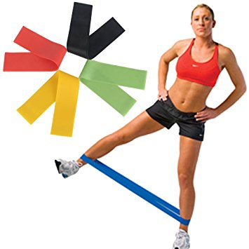 10inch Premium Latex Fitness Exercise Workout 5pcs Loop Resistance
