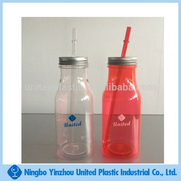 500ml plastic mason jar & milk bottle with tin lid