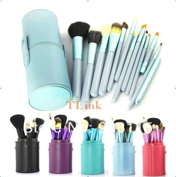 Custom 12 Pcs Makeup Brush Cosmetic Set Eyeshadow Wood Brush Blusher