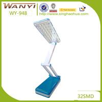 Plastic ABS folding portable LED desk lamp/table touch sensitive lamp