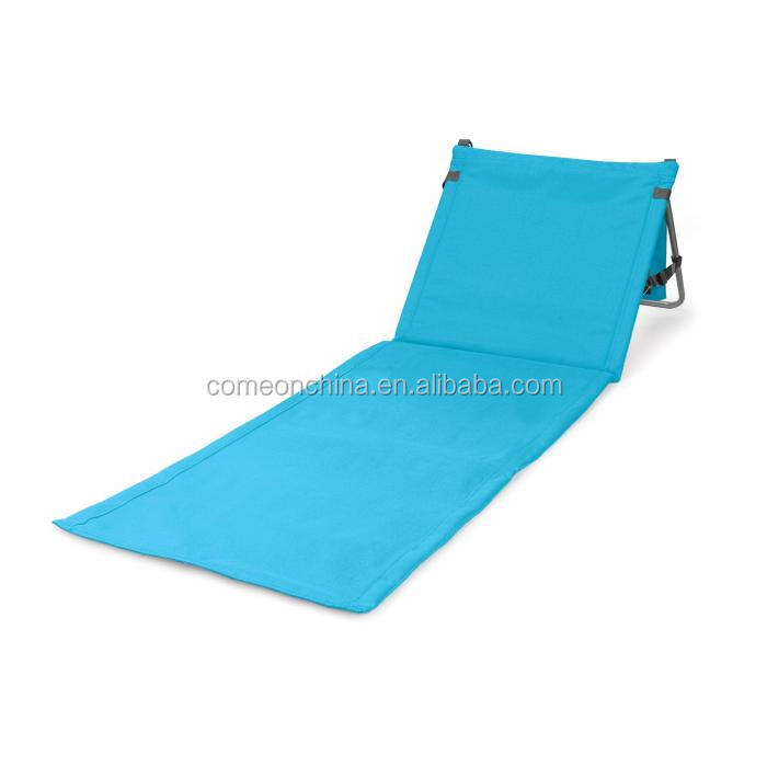Foldable Beach Picnic Mat Camping Deck Chair Lounger With Backrest