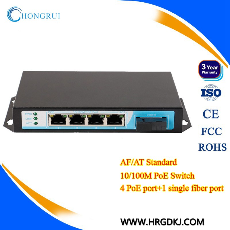 10/100m 5 Port PoE Ethernet Switch 4 Port PoE And 1 Port Fiber POE Swith