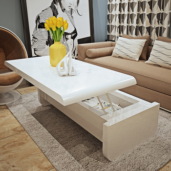 White Gloss Coffee Table With Storage 5