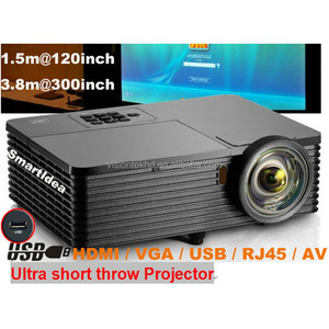 "VS268 Cheap Price max 300""large view high brightness 3500lumens dlp short throw hd projector"