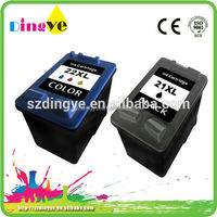 Factory wholesale printers compatible ink cartridge for hp 21 22