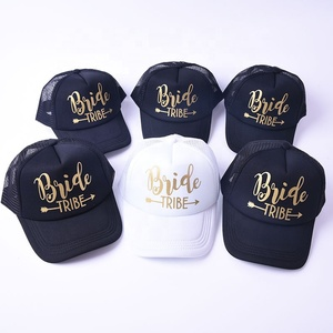 ae6ae5267f3 Bride Tribe Arrow Mesh Hats Bachelorette Party Snapback Bridal Wedding  Truck Caps Adjustable